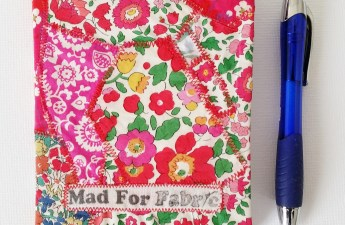 Mad For Fabric - DIY Fabric Covered Mini Notebook