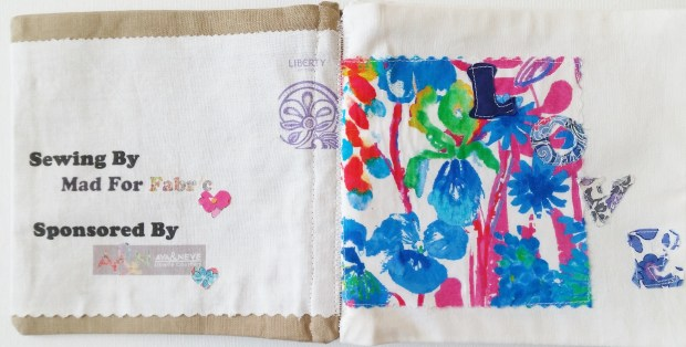 Mad For Fabric - Liberty Fabric Book Inside Cover and First Page