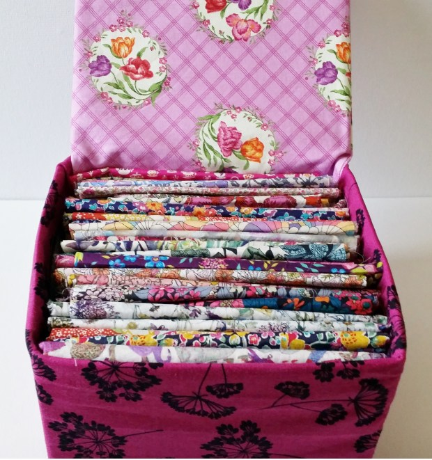 Mad For Fabric - DIY Fabric Box With Lid