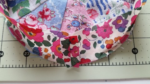 Mad For Fabric - Pincushion Band Sewn Together and Pinned