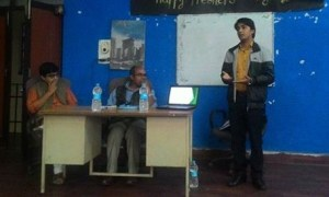 Speakers: Prashant Jha, Prof. Krishna Hachhethu and Bikash Mishra (Left to right)