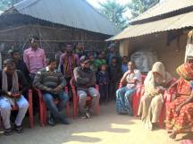 Meeting Martyr Families in Bhardaha