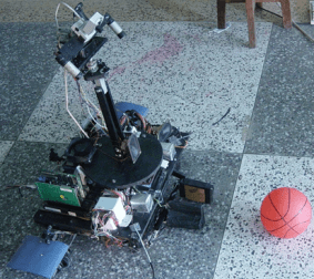 Robot trying to identify the ball in front of it