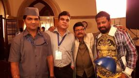 "With the crew of ""CM CM Hota Hai"""