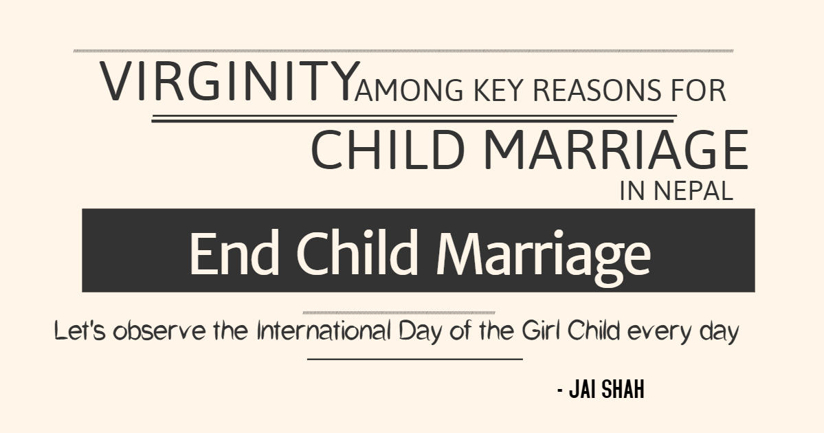 Virginity among key reasons for child marriage in Nepal
