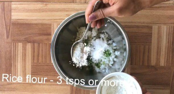 rice bonda, rice balls evening snack