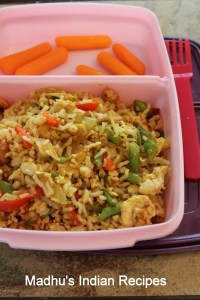 egg brown rice-kids lunch box recipe