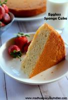 eggless vanilla sponge cake recipe