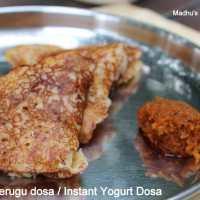 Instant Curd Dosa Recipe | Perugu dosa