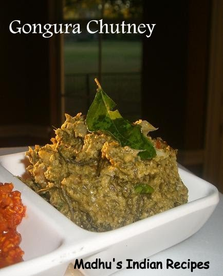 Pachadi series: Gongura pachadi | Red sorrel leaves chutney