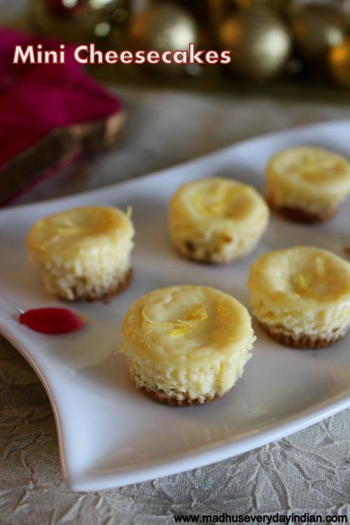 Mini Cheesecakes | Step by Step Recipe of Mini Cheesecakes | Madhu's ...