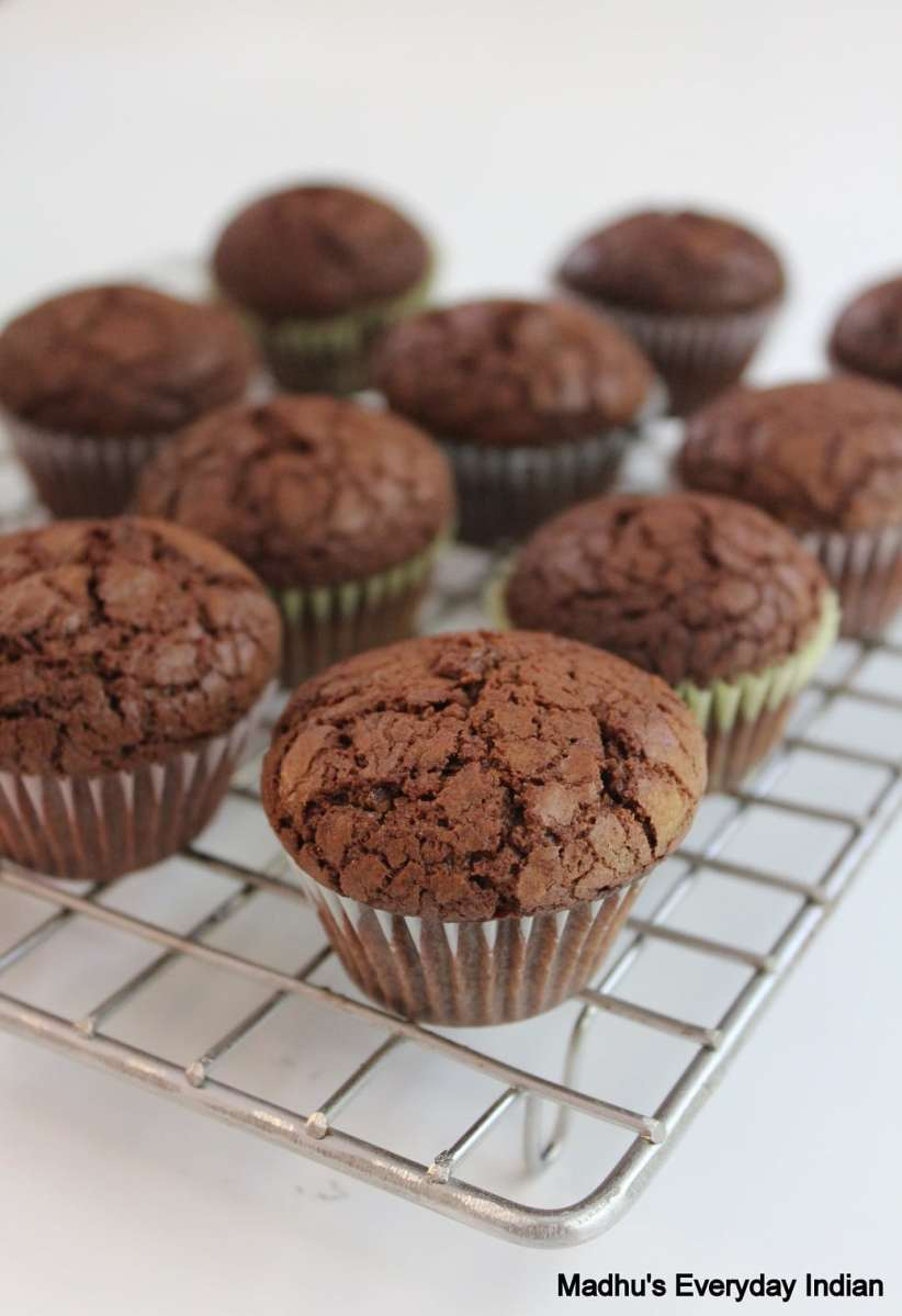 nutella brownie mini cupcakes