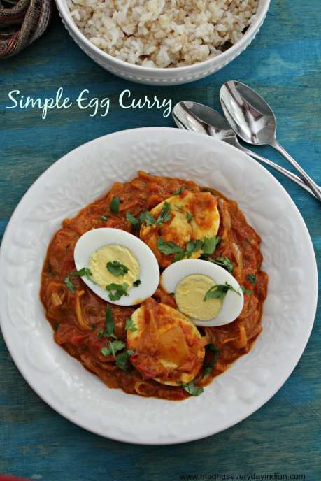simple egg curry with rice