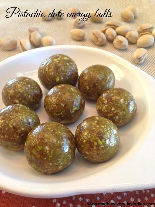 pistachio date energy balls