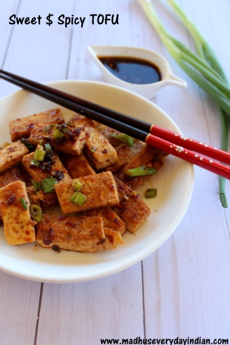 sweet and spicy tofu recipe