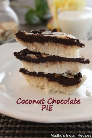 no bake coconut chocolate pie