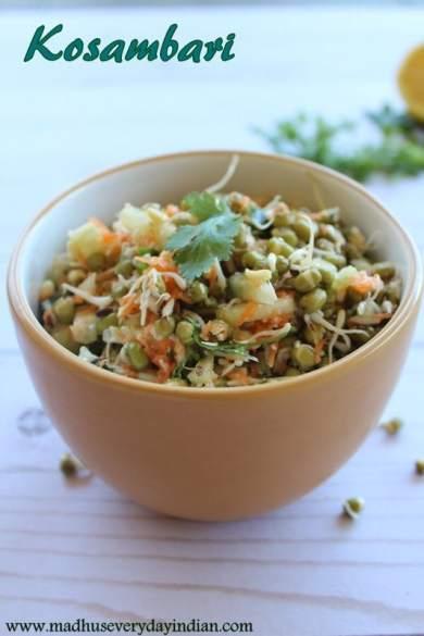 kosambari with green gram