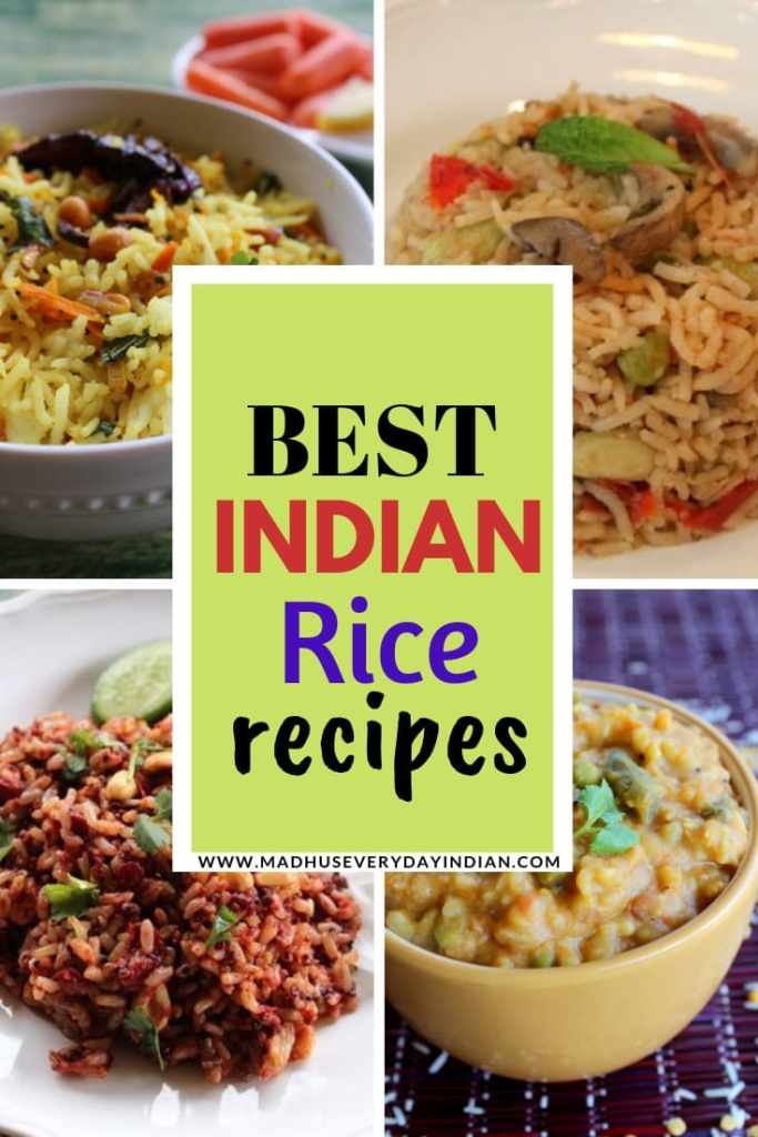collection of best indian rice recipes