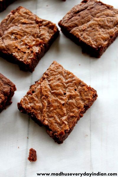 slice of a nutella brownie