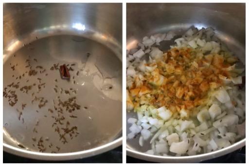 sauteeing onion