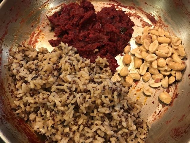 rice, gooju and peanuts