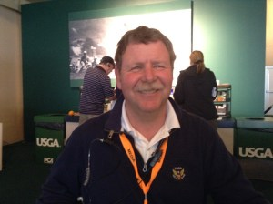 Pete Kowalski, looking calm on the Tuesday of US Open week
