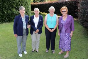 Vivien Saunders, Trish Wilson of the LGU, Janet Melville and Jenny Lee-Smith