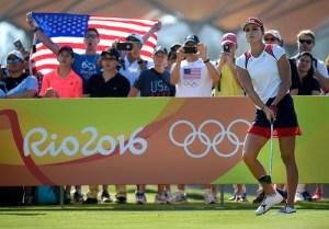 Lexi Thompson in Olympic mode. [IGF]