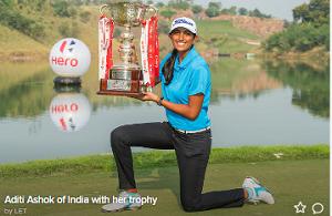Aditi Ashok wins her home Open.
