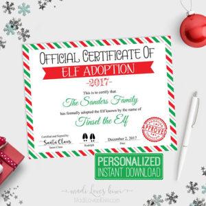 Red Amp White Santa Kit Letter From Santa With Envelope