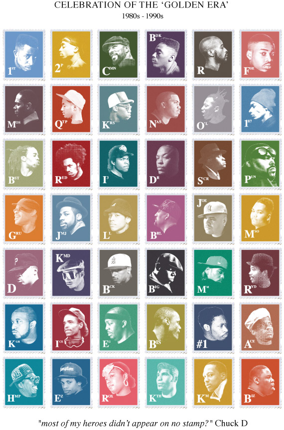 Golden Era Hip-Hop Stamps