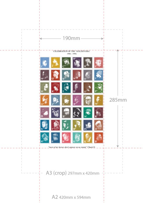 Hip-Hop Stamps Print Dimensions