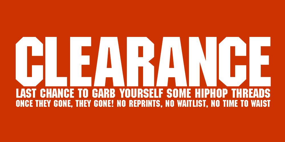 HipHop Clearance Sale