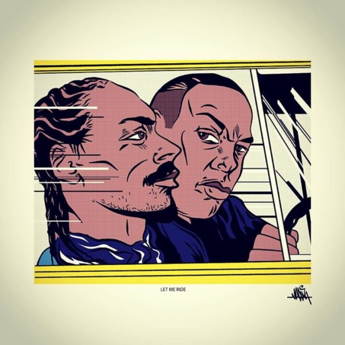 Snoop Dogg Dr Dre Let Me Ride Roy Lichtenstein by Madina