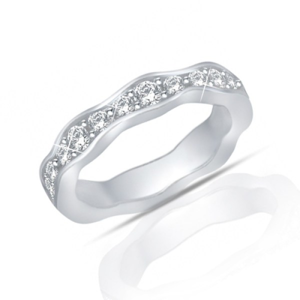 1.25 ct Round Cut Diamond Eternity Wedding Band Ring New Style