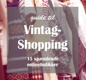 Vintageshopping liste over butikker
