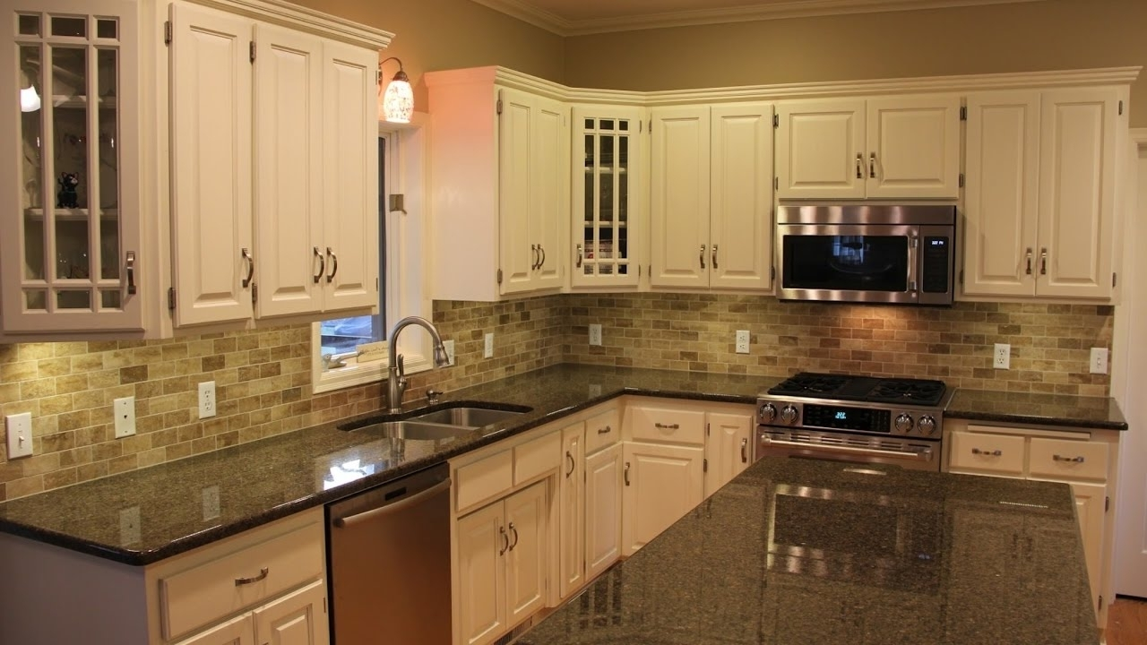 Black Granite Countertops With Cherry Cabinets - Madison ... on Dark Granite Countertops With Dark Cabinets  id=26766