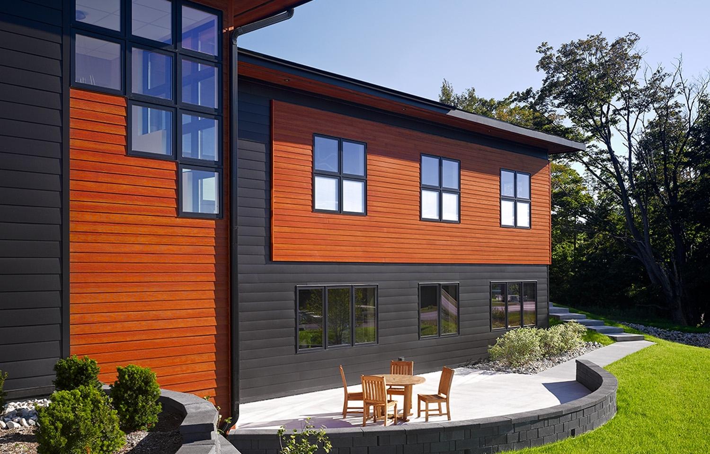 Exterior House Siding Color Ideas - Madison Art Center Design on Modern Vinyl Siding Ideas  id=34047