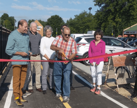Ribbon cutting at the new Blackhawk Trail Extension that is now officially open