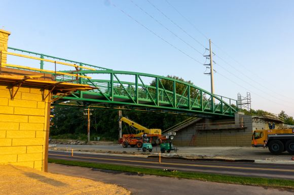 New Badger State Trail bridge over McKee Rd