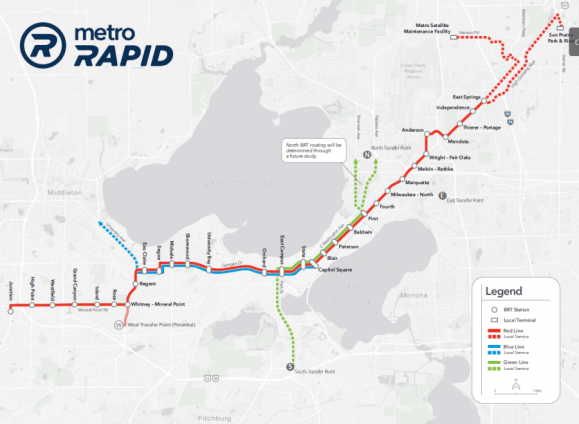 Network map of the future BRT system