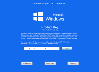 Example of a Technical Support Scam Pop-Up Window