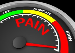 meter with pain geared to high