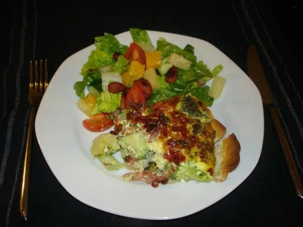 Bacon-broccoli tærte