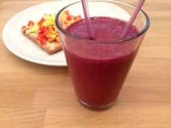 Jordbær-blåbær smoothie
