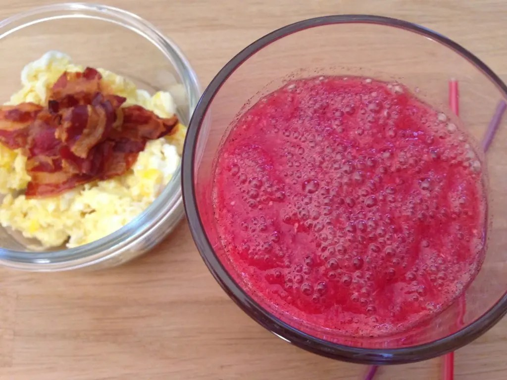 Smoothie med granatæble og blodappelsin