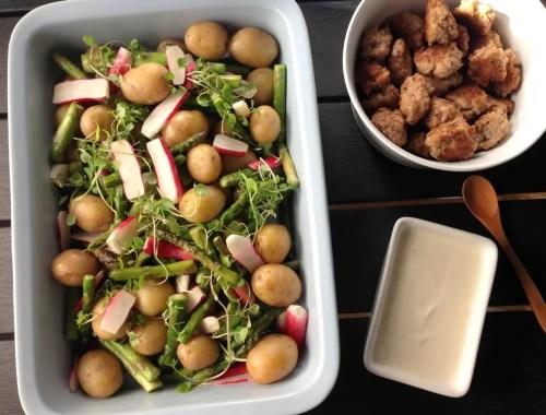 Kartoffelsalat med sennepsdressing