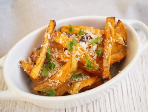 Sweet potato fries med parmesan