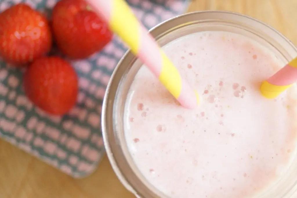 Morgen-smoothie med vanilje yoghurt