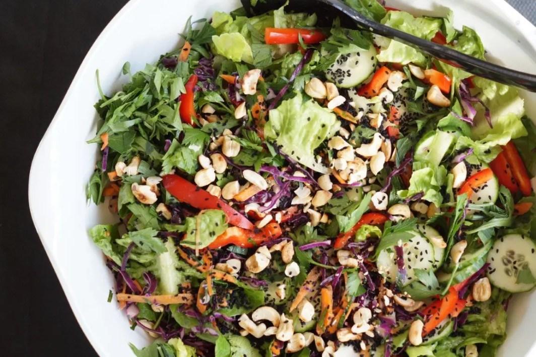 Asiatisk salat - opskrift